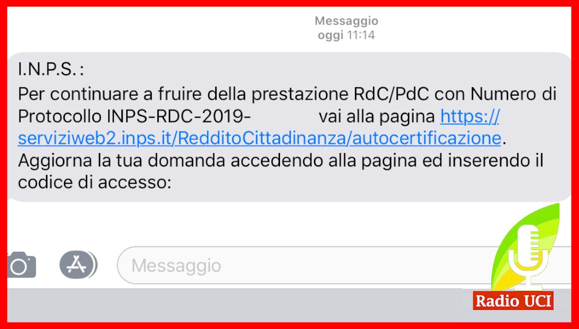 ARRIVANO SMS INPS PER AGGIORNAMENTO PDC/RDC: CHE VUOL DIRE E COSA FARE