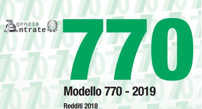 MODELLO 770/2019 IN SCADENZA