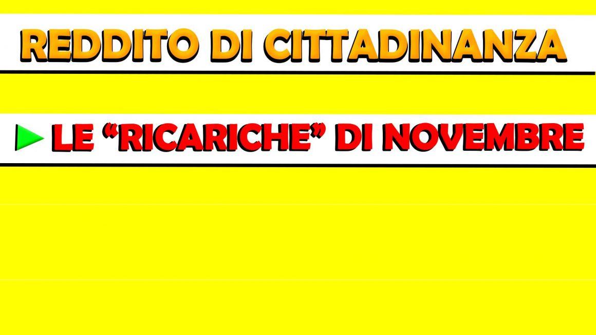 """REDDITO DI CITTADINANZA: LE """"RICARICHE"""" DI NOVEMBRE"""