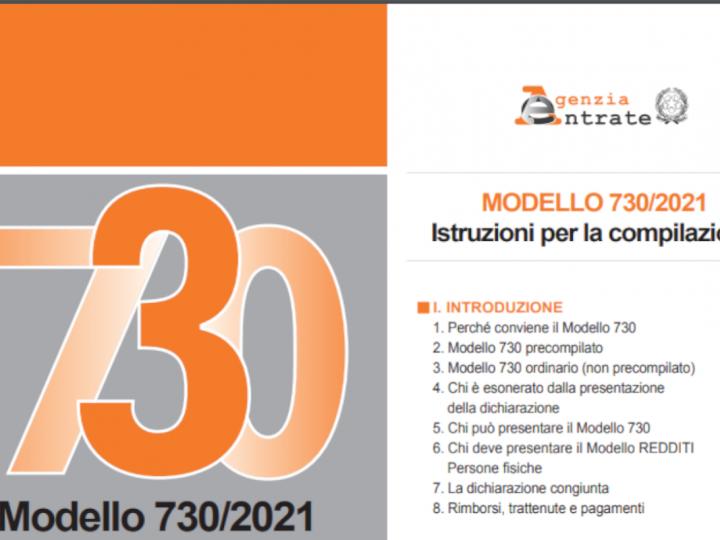 730/2021: NEL NUOVO MODELLO ANCHE IL SUPERBONUS 110%