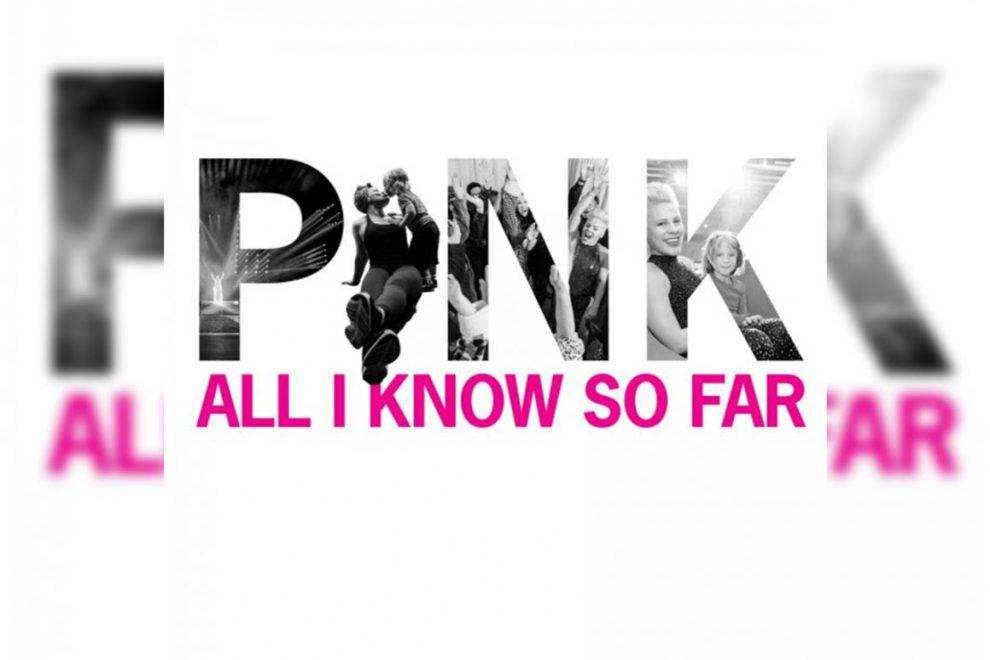 """P!NK TORNA IN RADIO CON IL NUOVO SINGOLO """"ALL I KNOW SO FAR"""""""